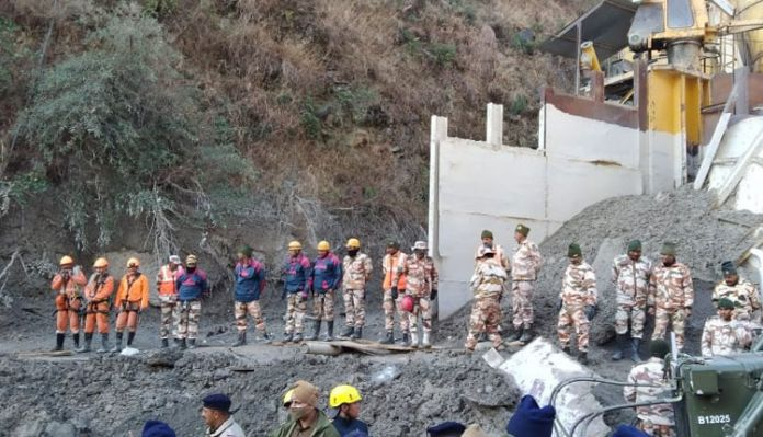 TapovanTunnel 1612932246 Ongoing rescue operation .. 36 bodies recovered