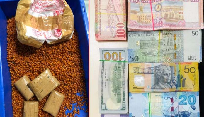 foreign currency Seizure of foreign currency at the airport