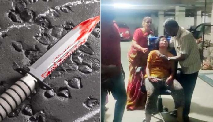 girl stabbed Bloodshed in the name of love .. Attack on girlfriend with a knife - Prime Time Zone daily (Prime Time Zone): Latest Telugu News | Breaking news