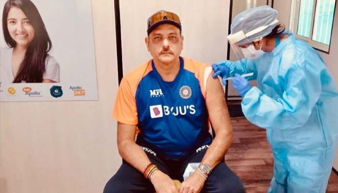 ravi shastri Kovid is the head coach of Team India who has been vaccinated