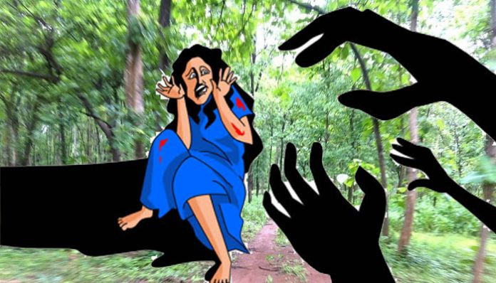 young woman raped